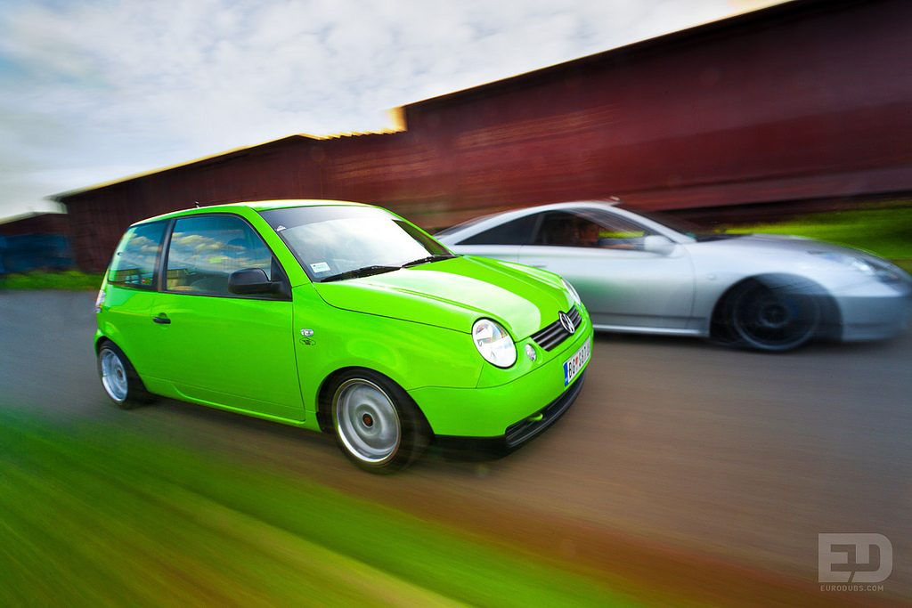 VW Lupo & Toyota Celica rolling shot