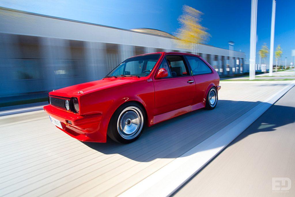 VW Polo rolling shot