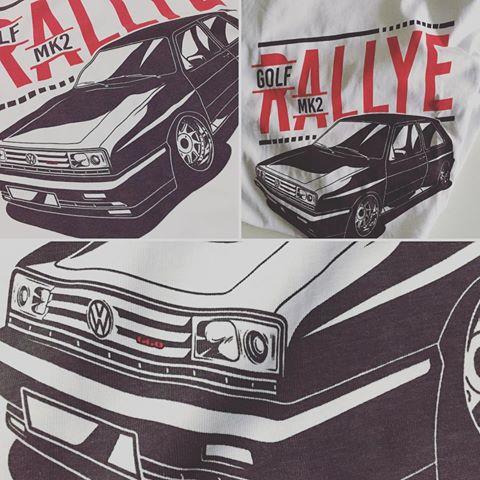 Golf MK2 Rallye G60 t-shirt