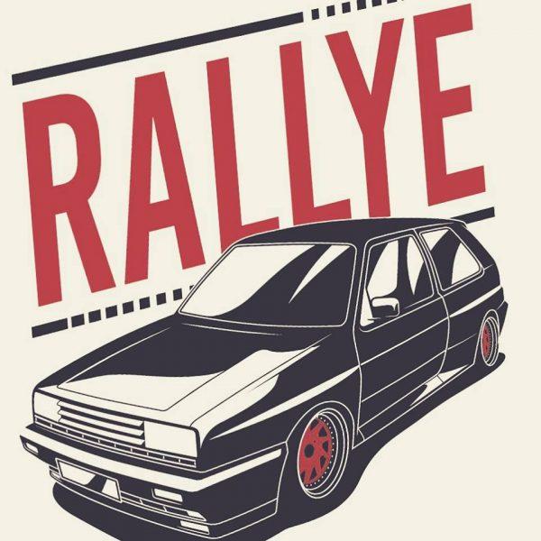 VW Rallye MK2 t-shirt design