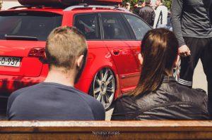 Audi A4 on air