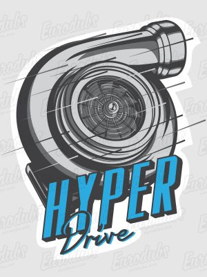 Hyper turbo drive stickers