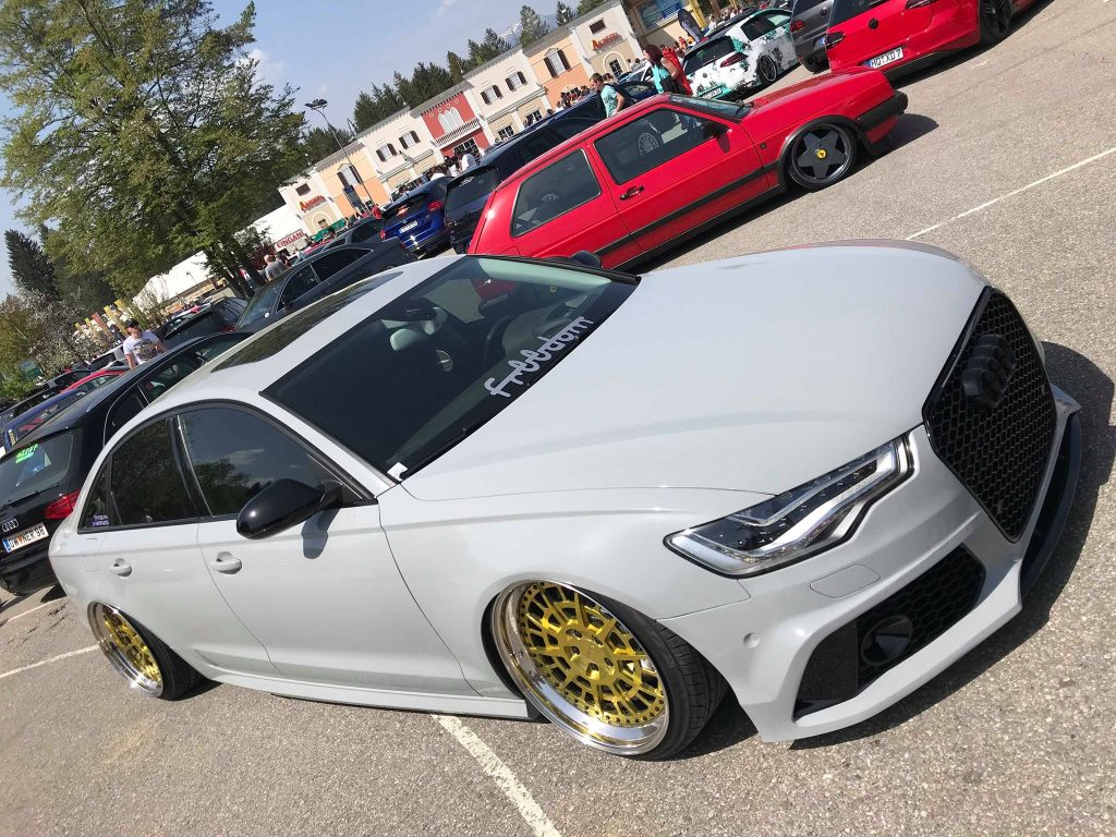 Clean Audi S4 at Faak Am See