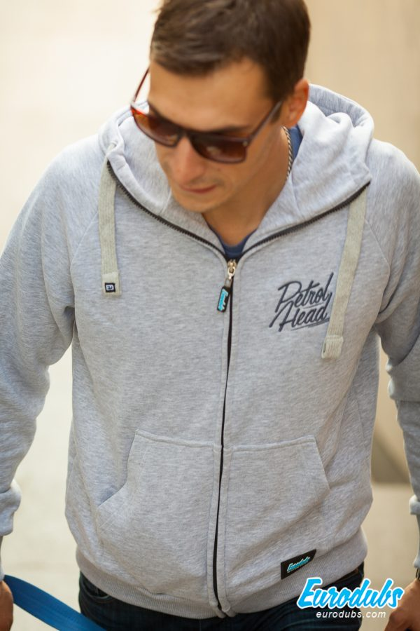 PetrolHead light gray hoodie by Eurodubs