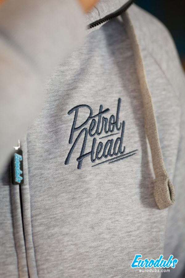 PetrolHead embroidery on a hoodie