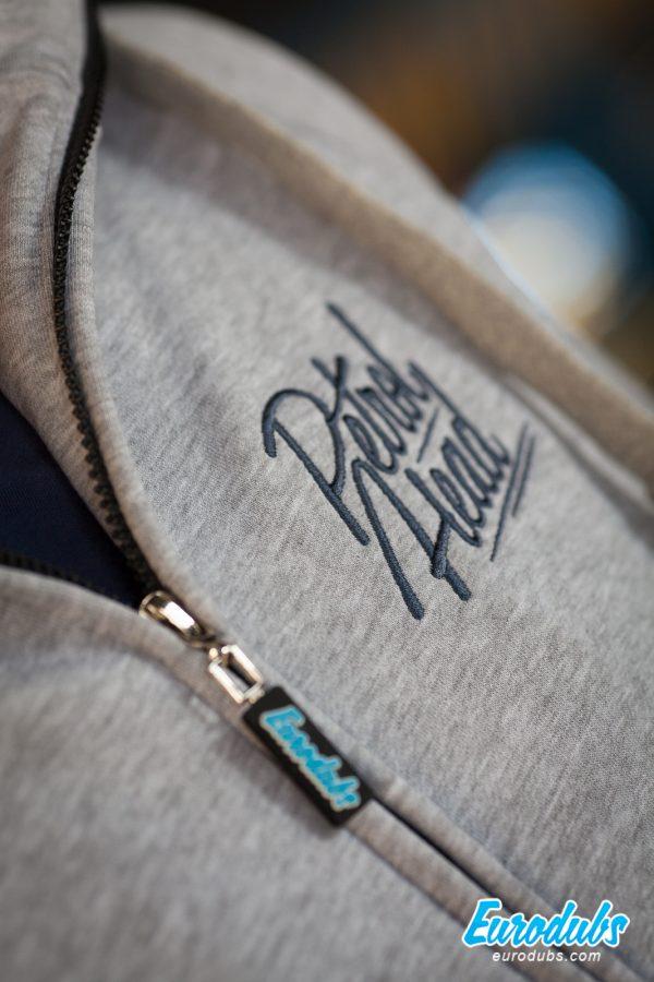 PetrolHead embroidery on a hoodie