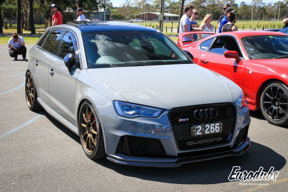 Audi RS3 at Melbourne Tuned Spring Meet October 2018
