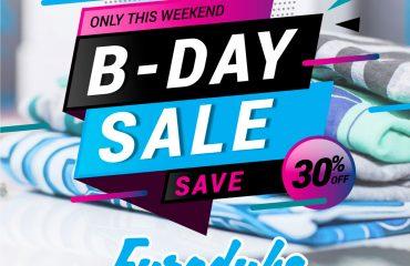 Eurodubs Bday sale 2018 Save 30%