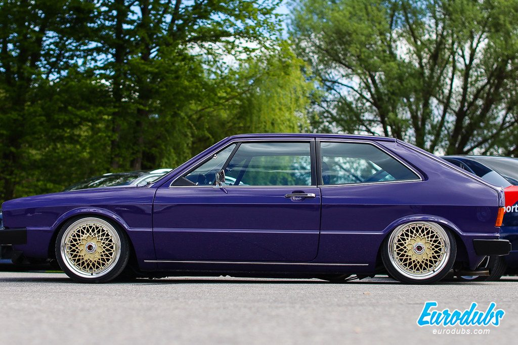 Purple VW Scirocco MK1 on BBS E50