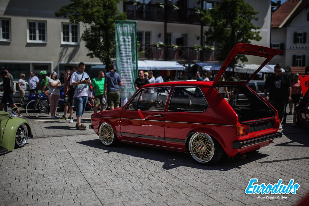 VW Golf MK1 stanced on BBS E50 17""