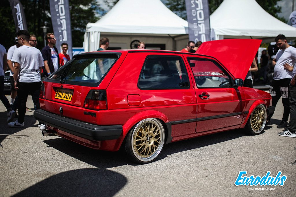 VW Golf MK2 GTI in red