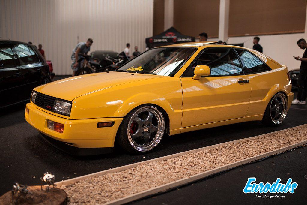 VW Corrado Yellow at Night of Wheels