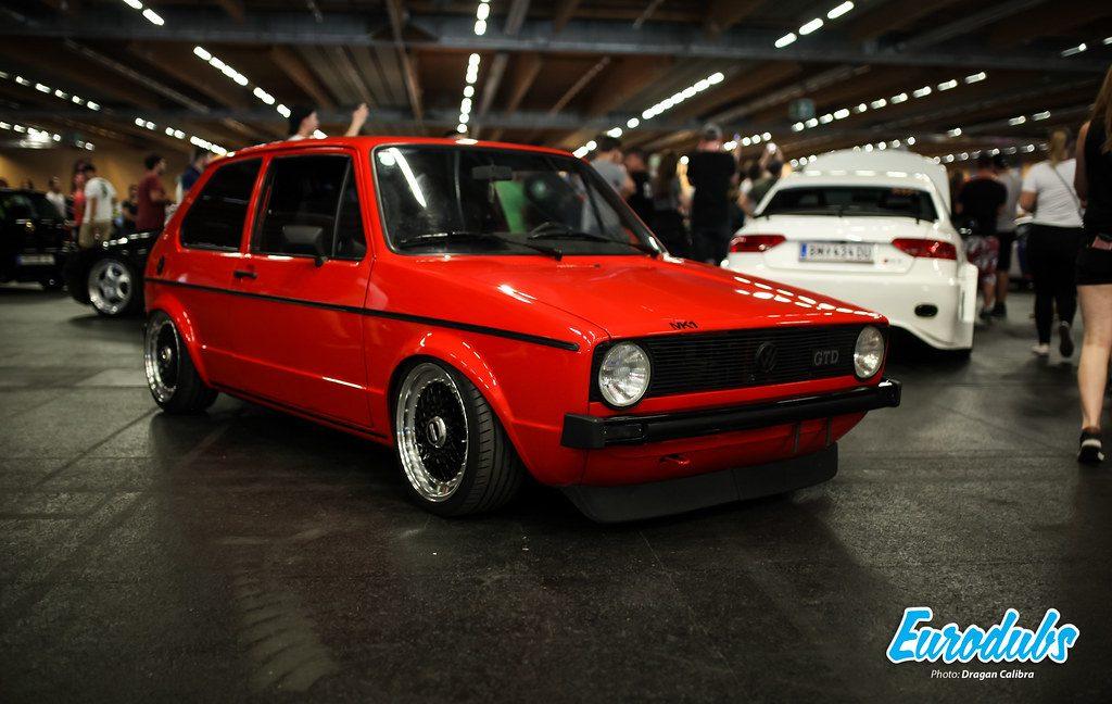 VW Golf MK1 GTD in Red