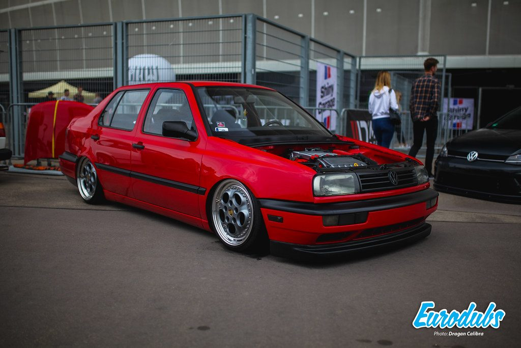 Volkswagen Vento VR6 on custom split Porsche Teledial wheels