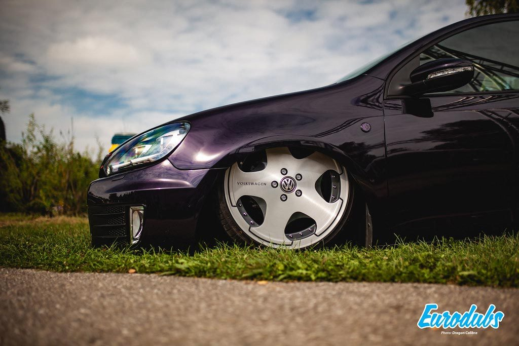 Golf MK6 slammed to the ground