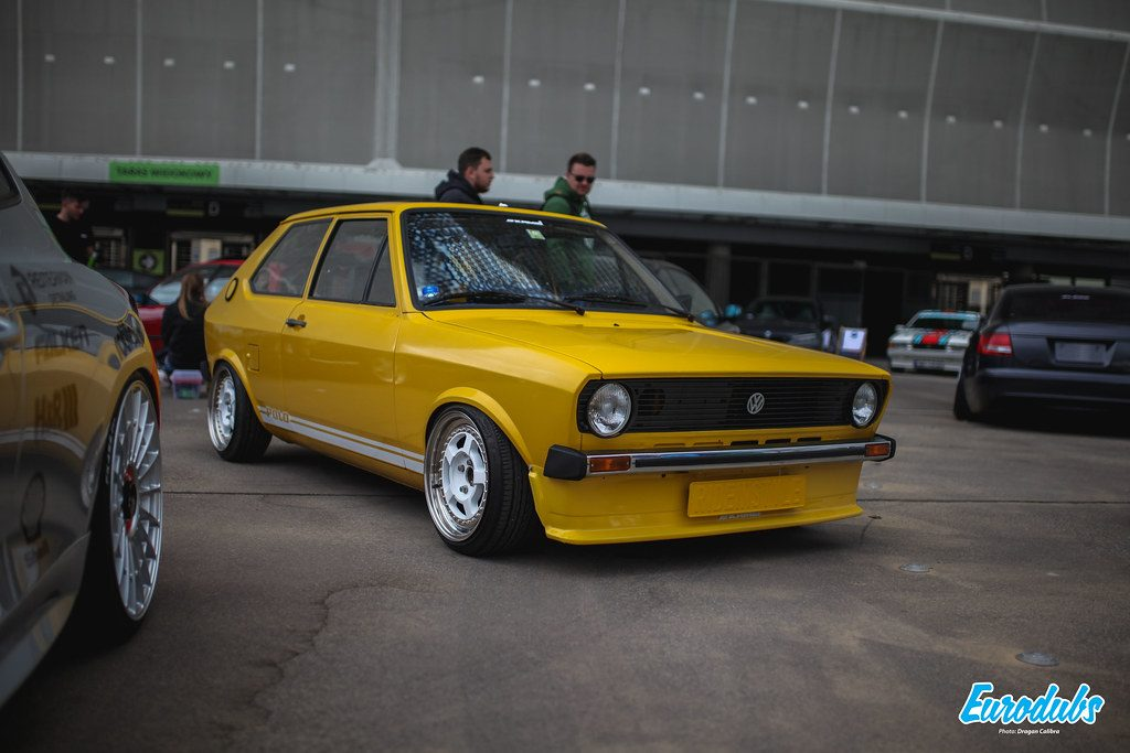 VW Yellow Polo MK1 at RACEISM 2019