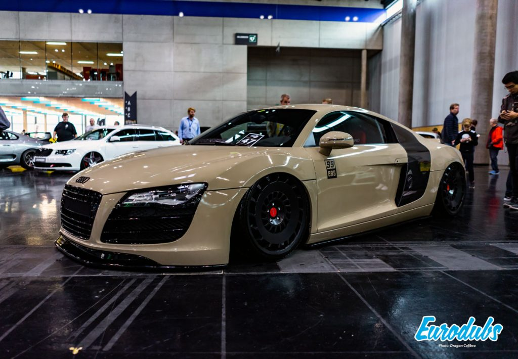 Audi R8 Stanced on Rotiform wheels