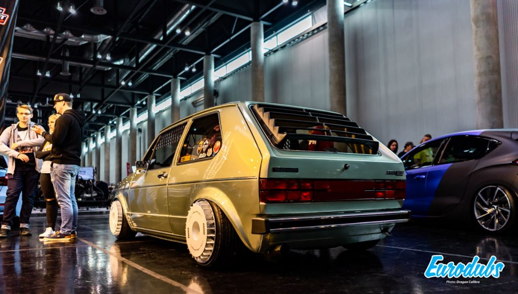 Golf MK1 Turbo fans at Custom Wheels Vienna 2019