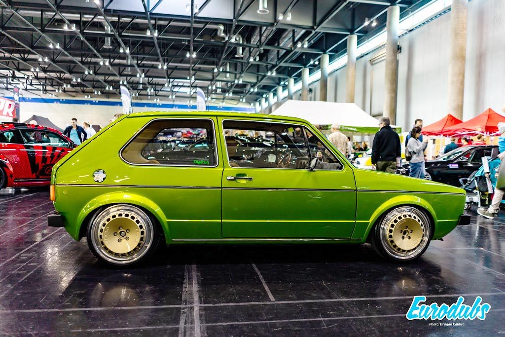 Green VW Golf MK1 on Ronal Racing wheels