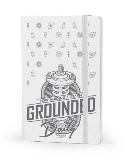 Grounded Daily front cover white notebook
