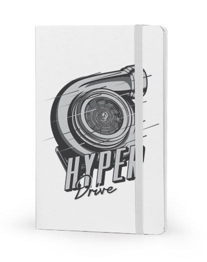 Hyper Drive front cover white notebook
